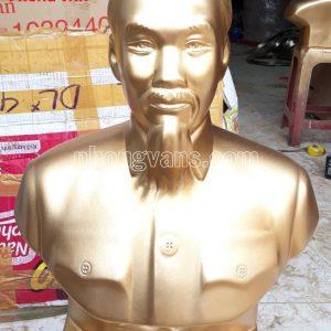 Tượng Bác Hồ Thạch Cao Nhũ Đồng 45cm