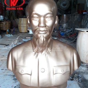 Tượng Bác Hồ Thạch Cao Nhũ Đồng 60cm