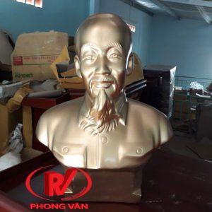 Tượng Bác Hồ Thạch Cao Nhũ Đồng 35cm