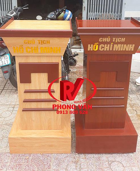 Bục đặt tượng Bác gỗ công nghiệp