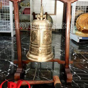 Bộ Chuông đồng Huế 30 cm và giá treo