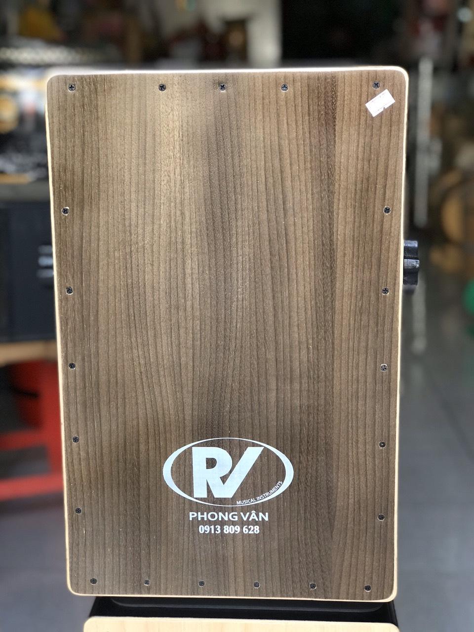 Trống cajon gỗ cẩm có núm vặn eq