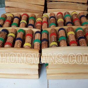 Bàn lăn chân gỗ 12 con lăn nhiều màu
