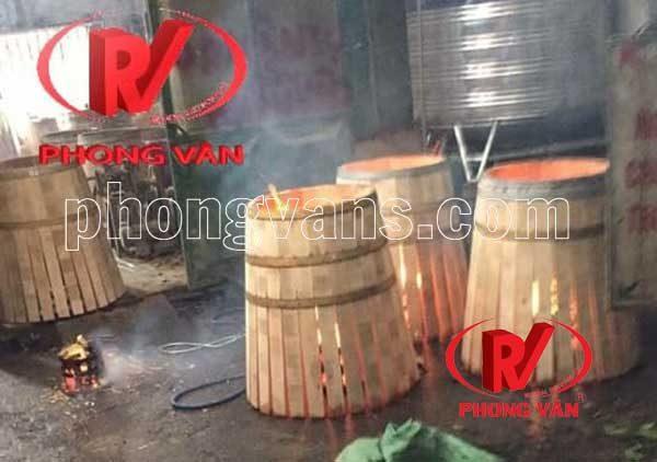 Bình gỗ sồi ngâm ủ rượu vang 225 lít