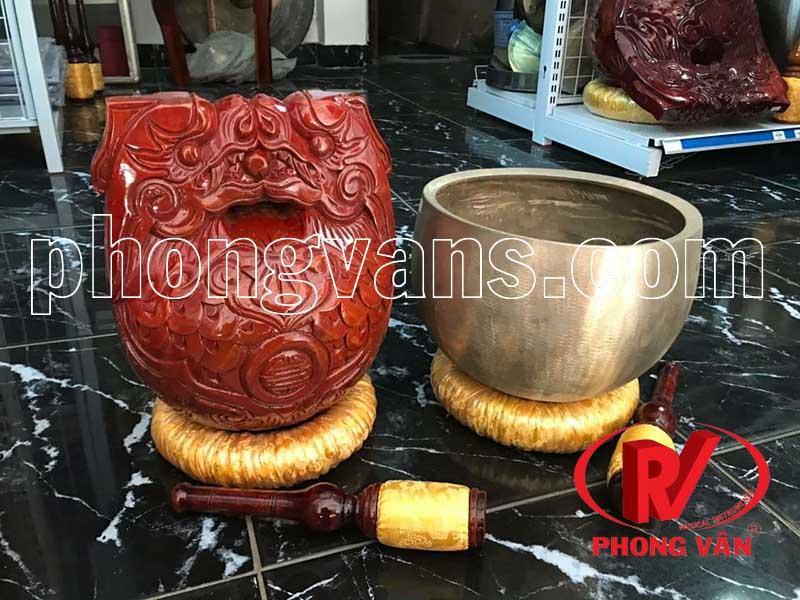 Bộ chuông mõ chùa Huế 4 tay