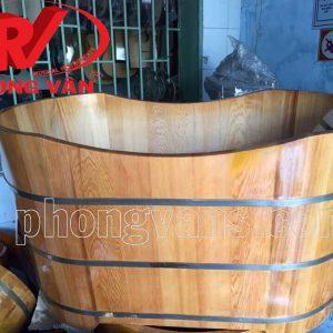 Bồn tắm gỗ pơmu trị liệu dài 120cm