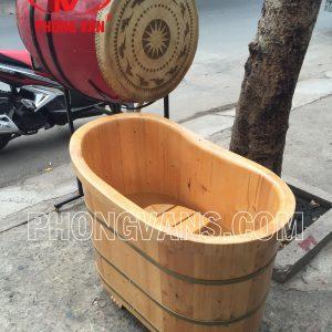 Bồn tắm gỗ thông dài 90cm