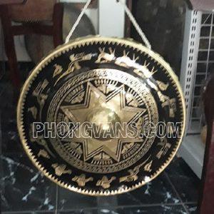 Chiêng đồng 30cm hình trống đồng