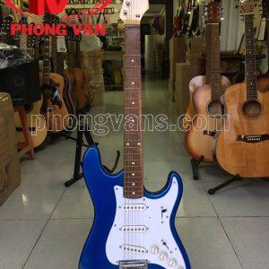 Đàn guitar điện solo Sài Gòn màu xanh