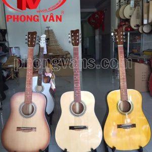 Đàn guitar gỗ hồng đào thùng vuông lớn