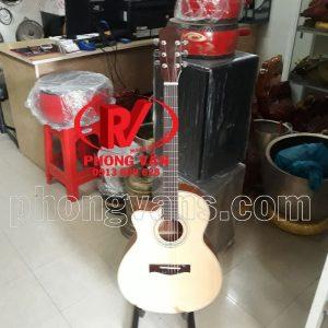 Đàn guitar tay trái gỗ hồng đào chỉ kè
