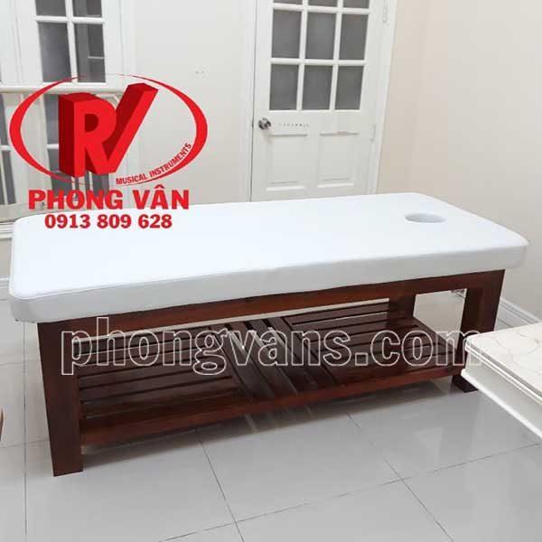 Giường gỗ phòng spa massage