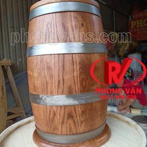 Hũ đựng gạo bằng gỗ sồi