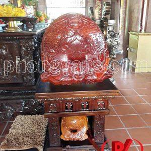Mõ chùa gỗ mít Huế 8 tay 48 cm