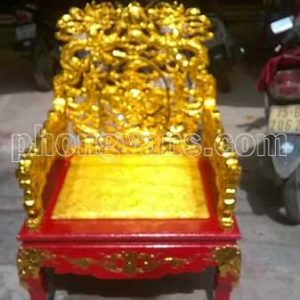 Ngai vàng vua ngồi bằng gỗ sơn son thếp vàng