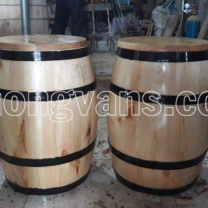 Thùng đựng gạo bằng gỗ thông cao 50 cm