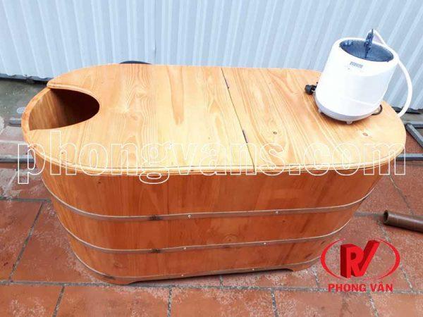 Thùng tắm gỗ thông xông hơi