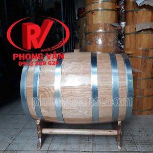 Trống ngâm rượu gỗ sồi đỏ 100 lít