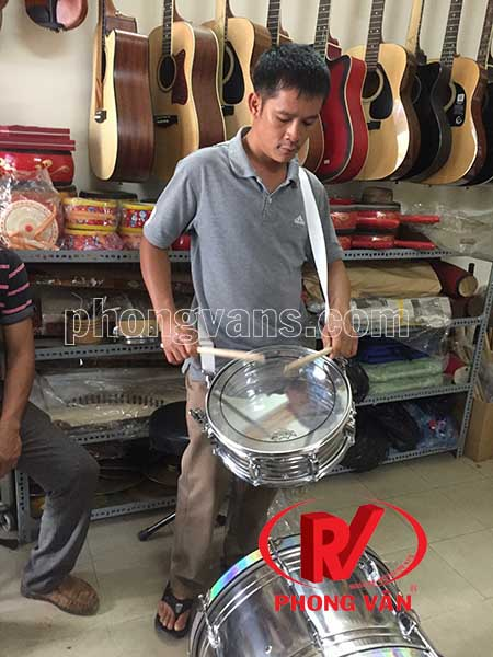 Trống snare 14 inch inox hãng Remo