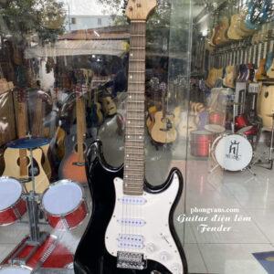 Đàn guitar điện phím lõm Fender màu đen