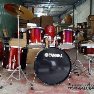 Trống dàn nhạc sống Yamaha đỏ đậm