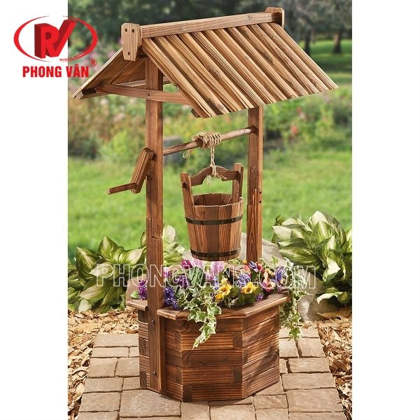 Chậu gỗ trồng cây hoa