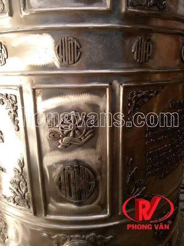 Chuông đồng cao 160 cm nặng 400 kg