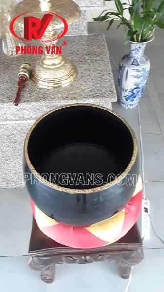 Chuông đồng tụng kinh Đài Loan 18 inch màu đen