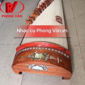 Đàn tranh gỗ hương đỏ khảm trai 19 dây