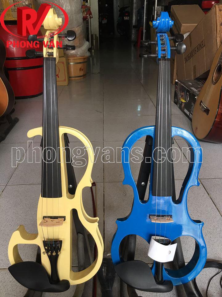 Đàn violin điện màu xanh