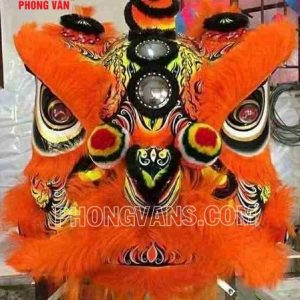 Đầu múa lân mekong màu cam