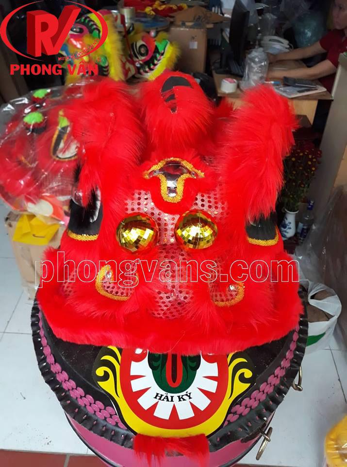Đầu múa lân nhỡ màu đỏ