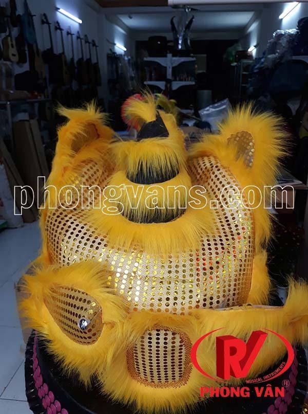 Đầu múa lân nhỡ màu vàng