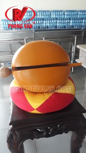 Mõ tụng kinh Đài Loan 18 inch màu vàng