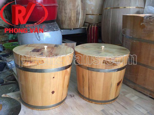 Thùng gỗ đựng gạo 15kg