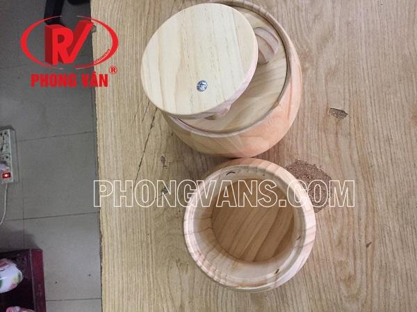 Thùng gỗ thông đựng coffee
