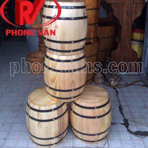 Thùng gỗ trang trí làm ghế ngồi cao 45 cm