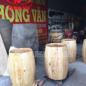 Thùng rượu gỗ trang trí cao 110cm