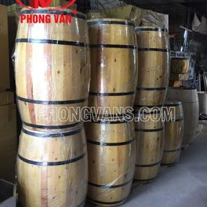 TTrống rượu gỗ trang trí cao 1m