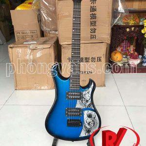 Đàn guitar điện phím lõm fender màu xanh