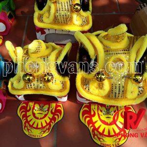 Đầu lân mini màu vàng Phong Vân