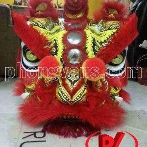 Đầu múa lân Mekong màu đỏ