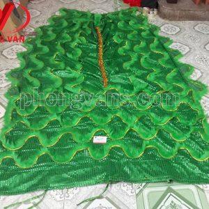 Đuôi lân kim sa màu xanh lá dài 2m2