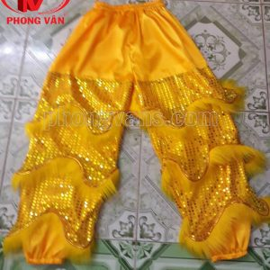 Quần lân kim sa vàng 80 cm 3 vảy