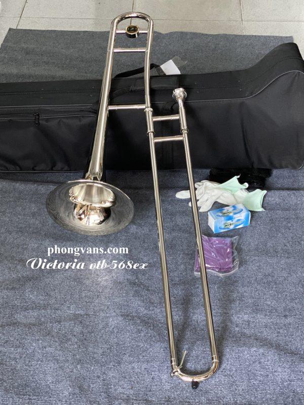 Kèn trombone màu trắng Victoria VTB-568EX