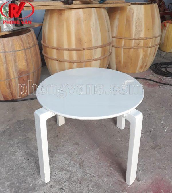 Bàn ngồi bệt gỗ thông tròn