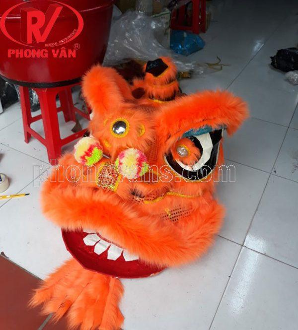 Đầu múa lân kim sa màu cam