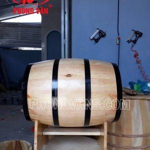 Thùng gỗ thông để kệ nằm dài 60cm