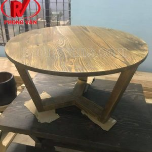 Bàn cafe phòng khách gỗ thông