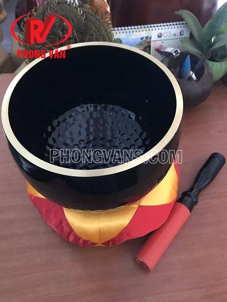 Chuông đồng đen Đài Loan vân lục giác 9.5in